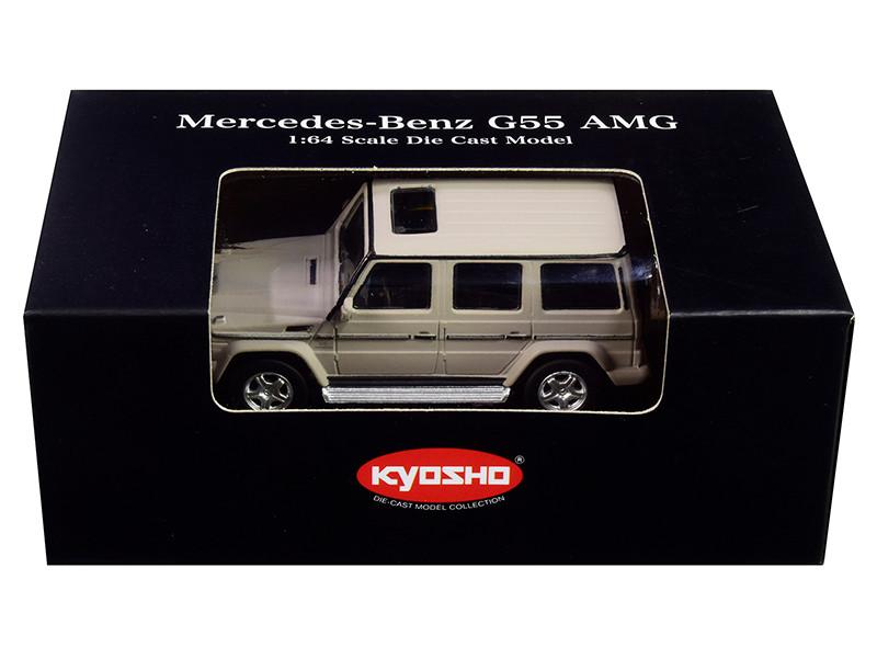 Mercedes Benz G55 AMG Gray 1/64 Diecast Model Car Kyosho K07021G10