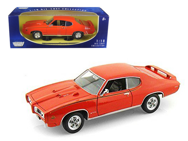 1969 Pontiac GTO Judge Orange 1/18 Diecast Model Car Motormax 73133