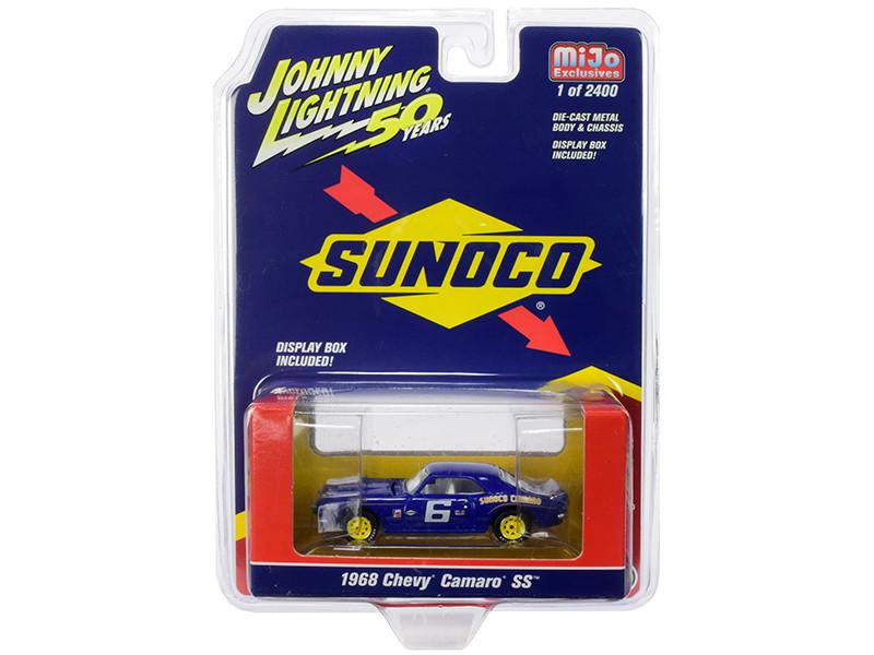 1968 Chevrolet Camaro SS #6 Sunoco Dark Blue Limited Edition 2400 pieces Worldwide 1/64 Diecast Model Car Johnny Lightning JLCP7239