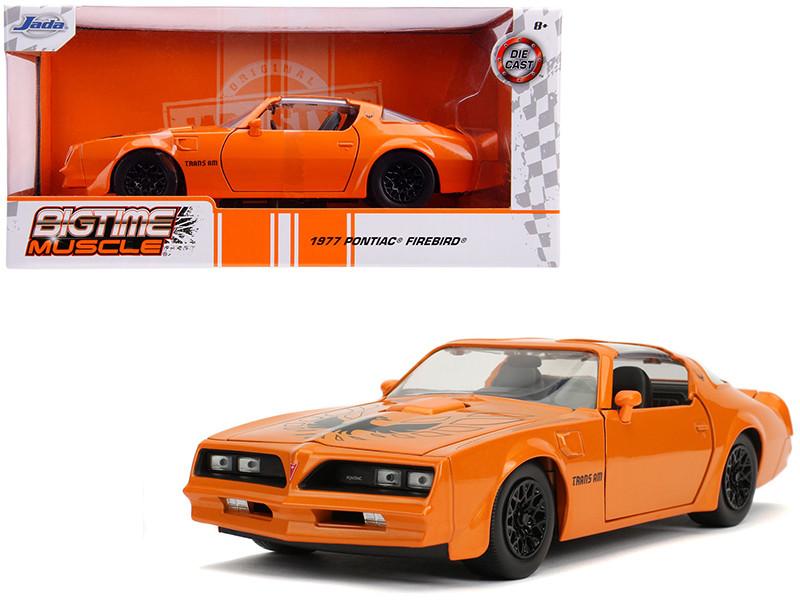 1977 Pontiac Firebird Trans Am Metallic Orange Black Wheels Bigtime Muscle 1/24 Diecast Model Car Jada 31601