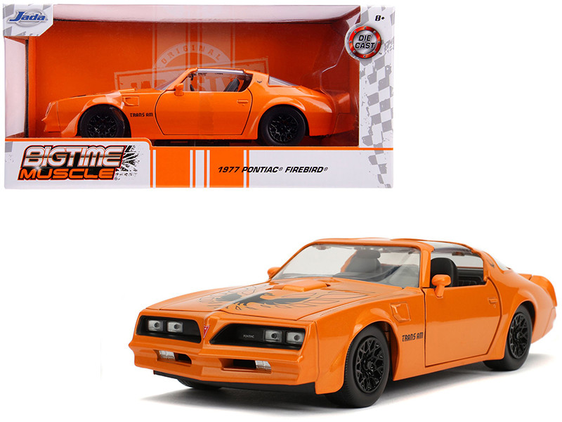 1977 Pontiac Firebird Trans Am Metallic Orange Black Wheels Bigtime Muscle 1/24 Diecast Model Car Jada 31601