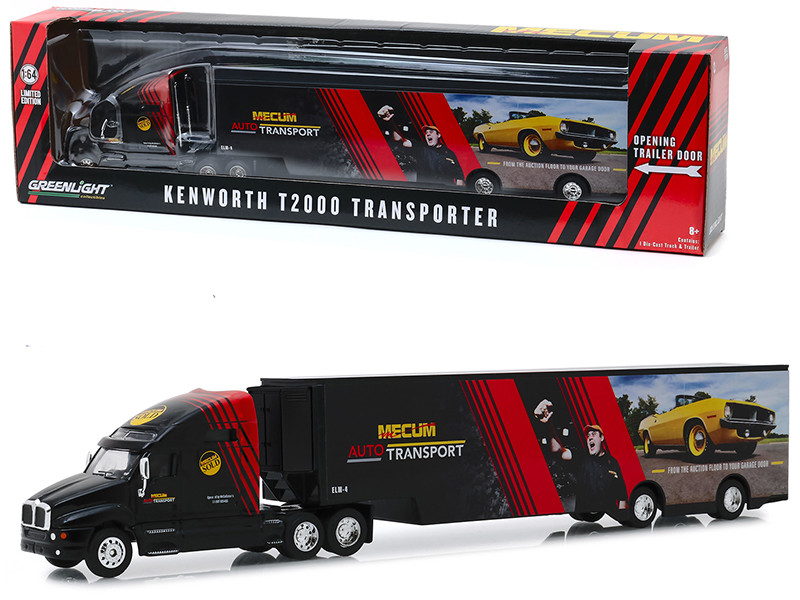 Kenworth T2000 Mecum Auto Transport Transporter From the Auction Floor to Your Garage Door Hobby Exclusive 1/64 Diecast Model Greenlight 30106