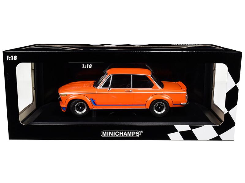 1973 BMW 2002 Turbo Orange Stripes Limited Edition 300 pieces Worldwide 1/18 Diecast Model Car Minichamps 155026202