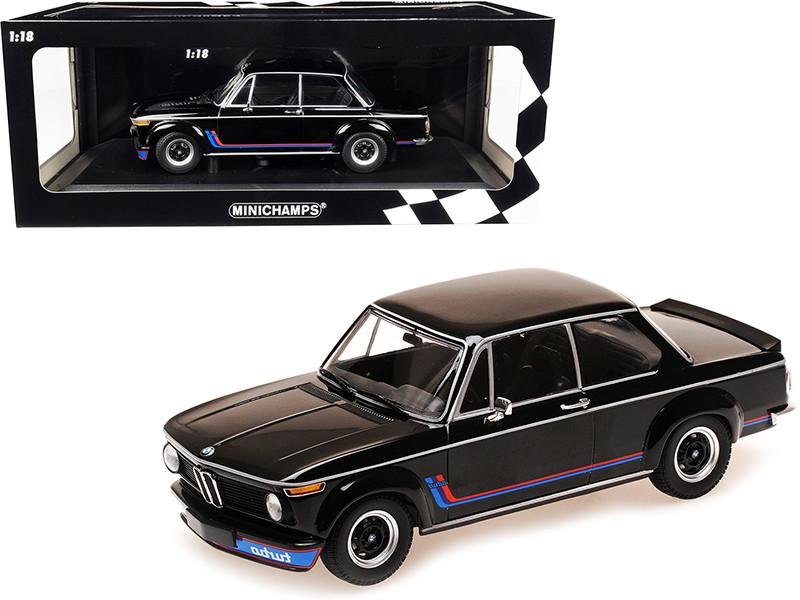 1973 BMW 2002 Turbo Black Stripes Limited Edition 360 pieces Worldwide 1/18 Diecast Model Car Minichamps 155026204