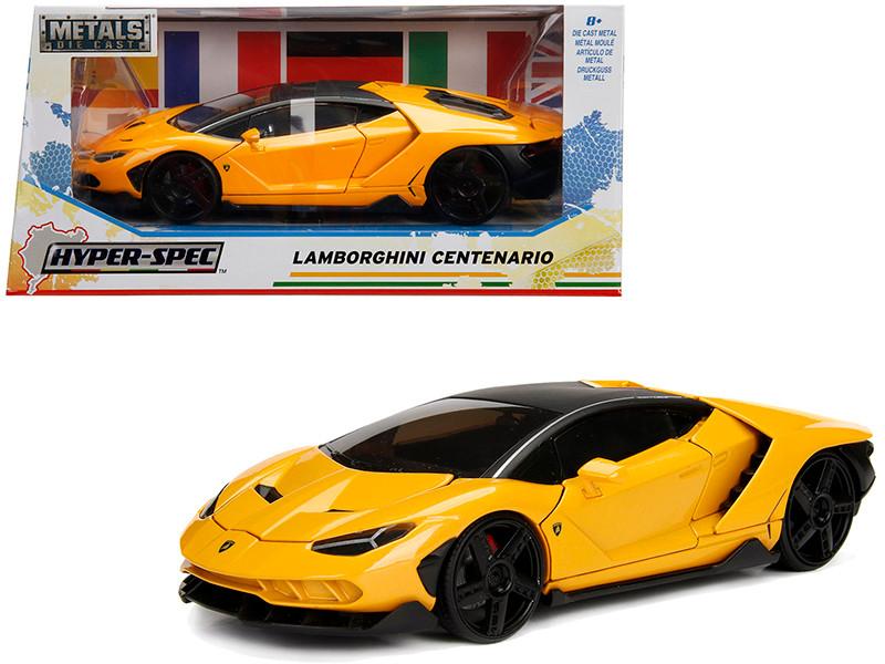 Lamborghini Centenario Metallic Yellow Hyper-Spec 1/24 Diecast Model Car Jada 99362