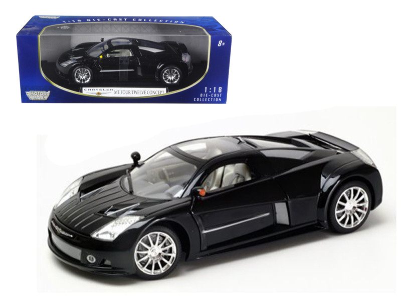 Chrysler Me Four Twelve Black 1/18 Die cast Model Car Motormax 73138