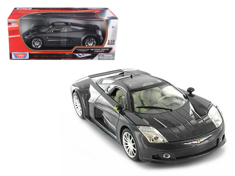 Chrysler Me Four Twelve Concept Car Grey 1/18 Diecast Model Car Motormax 73138