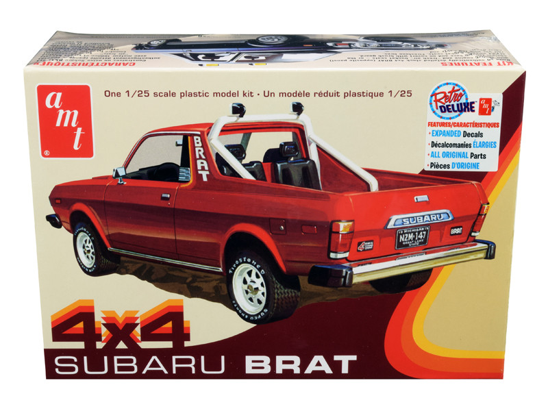 Skill 2 Model Kit 1978 Subaru BRAT 4x4 Pickup Truck 1/25 Scale Model AMT AMT1128 M