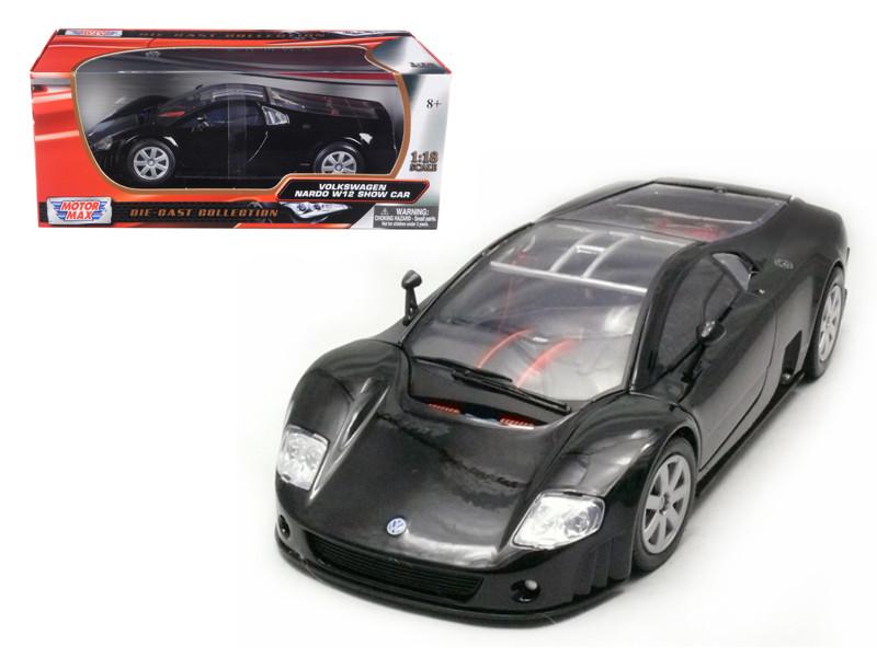 Volkswagen Nardo W12 Show Car Black 1/18 Diecast Model Car by Motormax