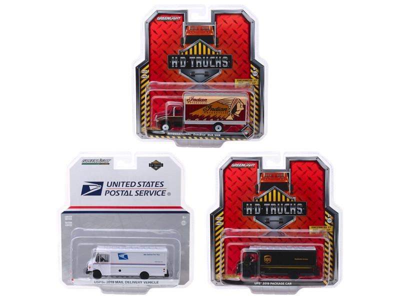 Heavy Duty HD Trucks Series 17 Set of 3 pieces 1/64 Diecast Models Greenlight 33170