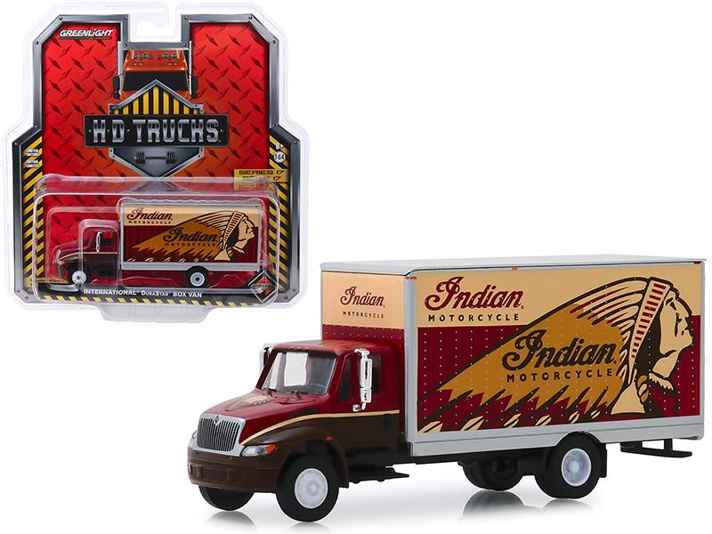 International Durastar Box Van Indian Motorcycle HD Trucks Series 17 1/64 Diecast Model Greenlight 33170 A