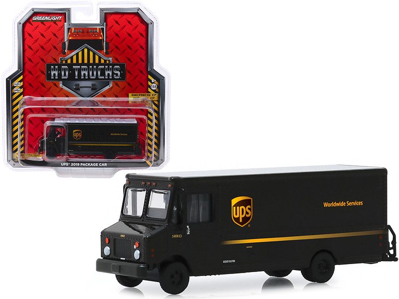 2019 Package Car UPS United Parcel Service HD Trucks Series 17 1/64 Diecast Model Greenlight 33170 C