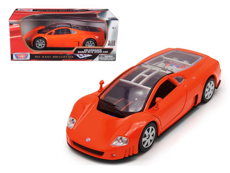 Volkswagen Nardo W12 Show Car Orange 1/18 Diecast Model Car by Motormax