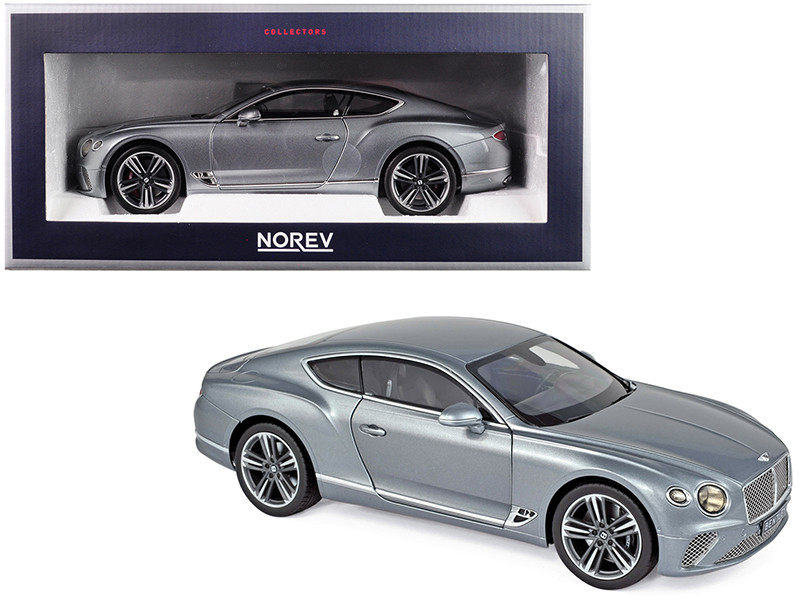 2018 Bentley Continental GT Metallic Gray 1/18 Diecast Model Car Norev 182780