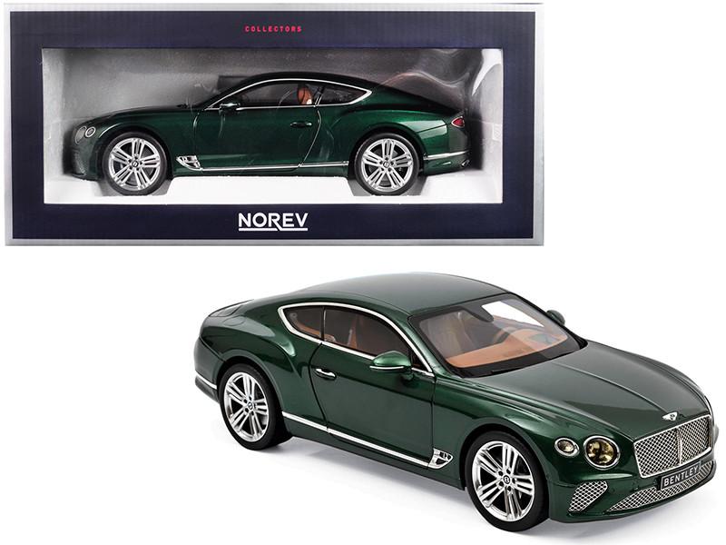 2018 Bentley Continental GT Metallic Green 1/18 Diecast Model Car Norev 182782