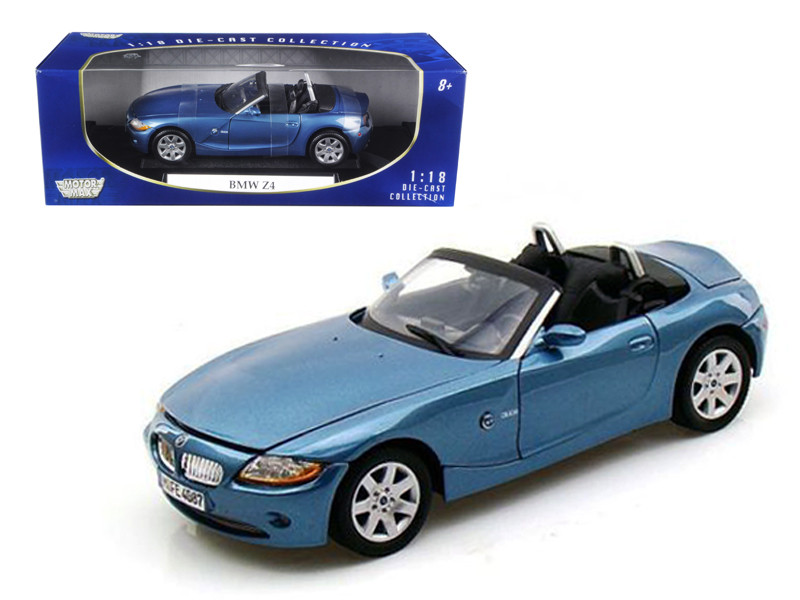 BMW Z4 Convertible Blue 1/18 Diecast Model Car Motormax 73144
