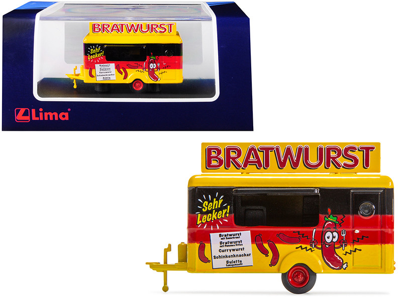 Mobile Food Trailer Bratwurst Germany 1/87 HO Scale Diecast Model Lima HC5001