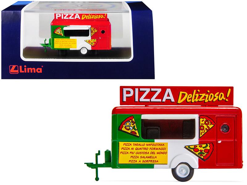 Mobile Food Trailer Pizza Deliziosa Italy 1/87 HO Scale Diecast Model Lima HC5002