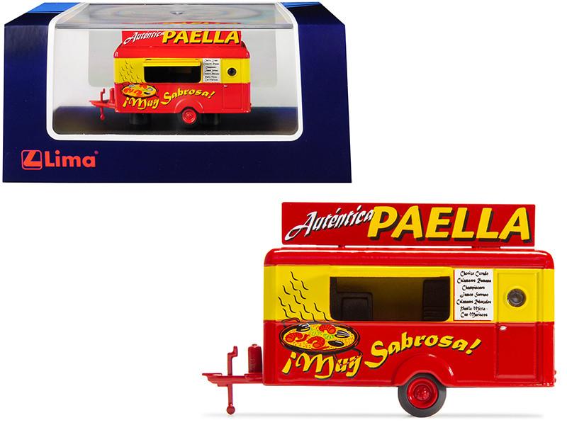 Mobile Food Trailer Autentica Paella Spain 1/87 HO Scale Diecast Model Lima HC5003