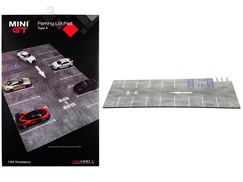 Parking Lot Pad Type A Accessory Mini GT for 1/64 Scale Model Cars True Scale Miniatures MGTAC01