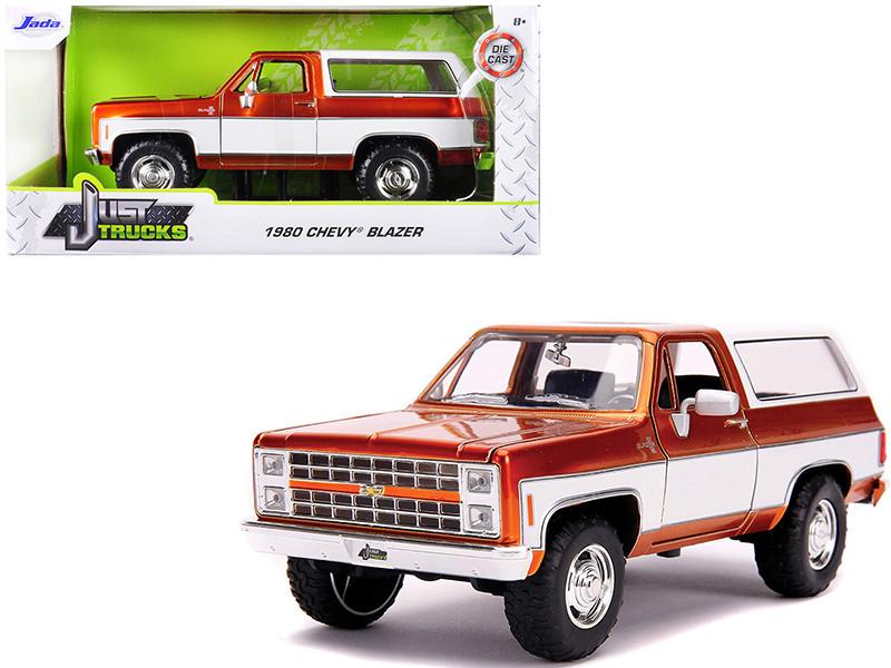 1980 Chevrolet Blazer K5 Copper White Just Trucks 1/24 Diecast Model Car Jada 31591