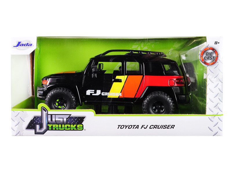 Toyota FJ Cruiser Custom Roof Rack Black Just Trucks 1/24 Diecast Model Car Jada 31595