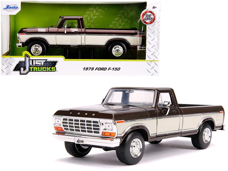 1979 Ford F-150 Pickup Truck Stock Brown Metallic Cream Just Trucks 1/24 Diecast Model Car Jada 31588
