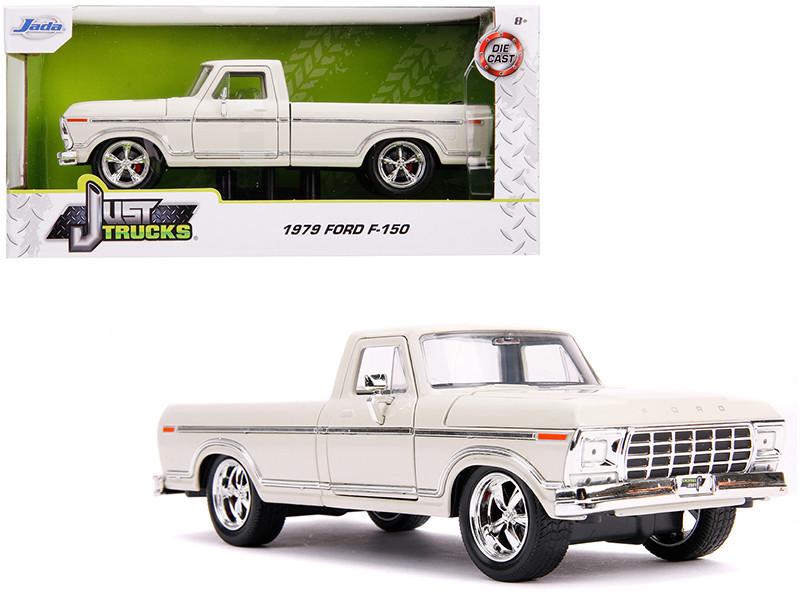 1979 Ford F-150 Pickup Truck Stock Cream Just Trucks 1/24 Diecast Model Car Jada 31589