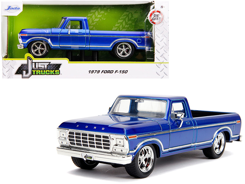 1979 Ford F-150 Pickup Truck Stock Candy Blue Just Trucks 1/24 Diecast Model Car Jada 31597