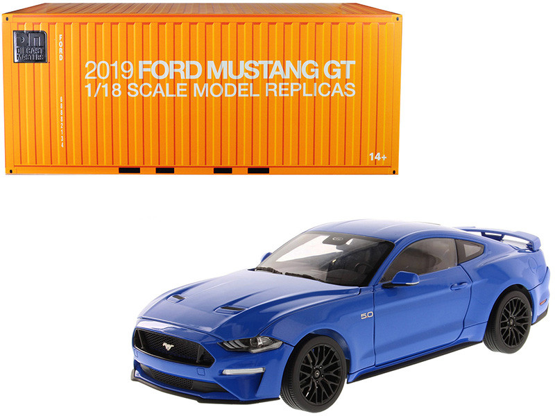 2019 Ford Mustang GT 5.0 Coupe Kona Blue 1/18 Diecast Model Car Diecast Masters 61003