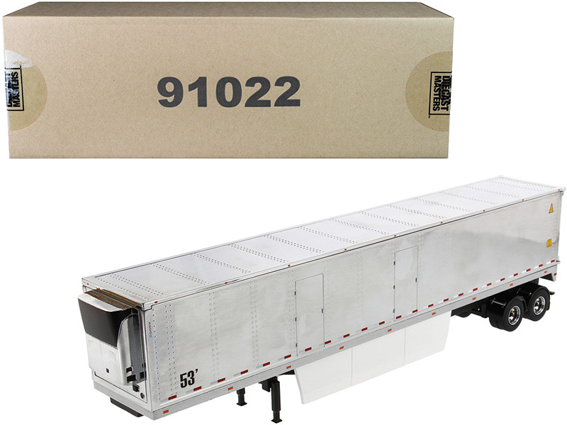 53' Reefer Refrigerated Van Trailer Chrome Transport Series 1/50 Diecast Model Diecast Masters 91022