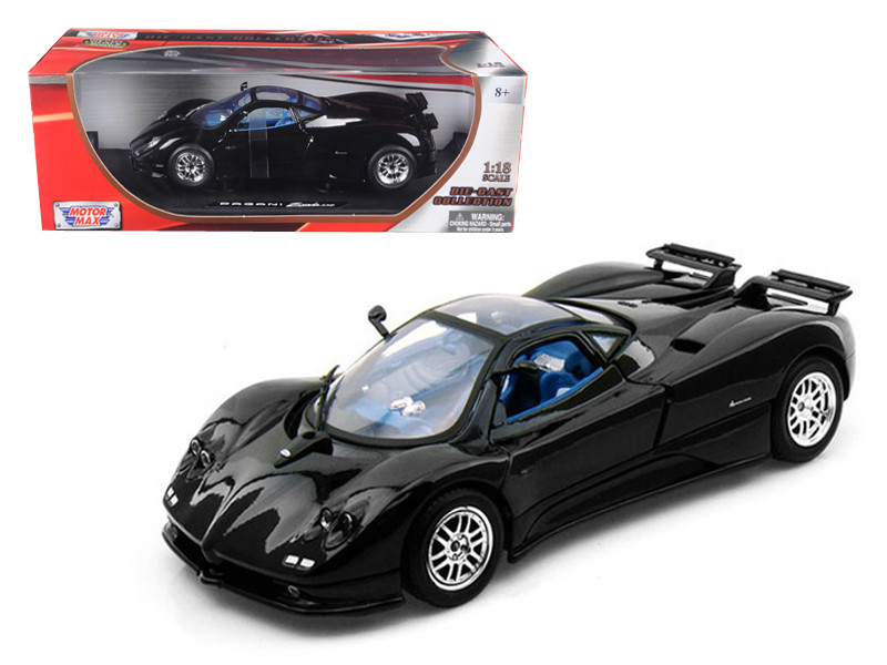 Pagani Zonda C12 Black 1/18 Diecast Car Model Motormax 73147
