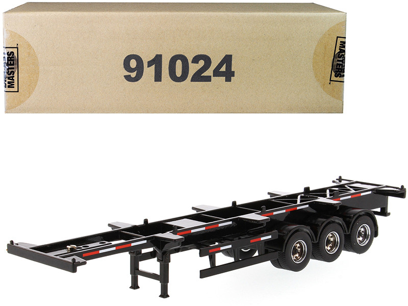 40' Skeleton Trailer Black Transport Series 1/50 Diecast Model Diecast Masters 91024