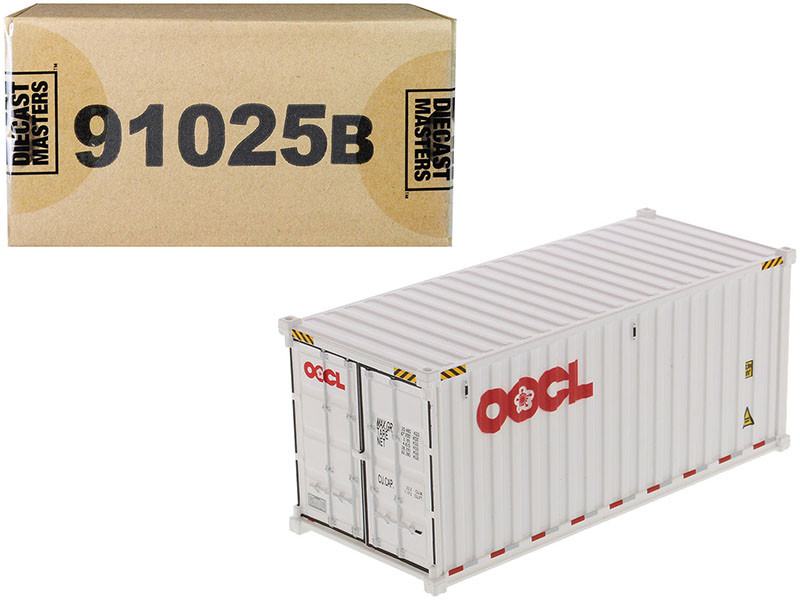 20' Dry Goods Sea Container OOCL White Transport Series 1/50 Model Diecast Masters 91025 B