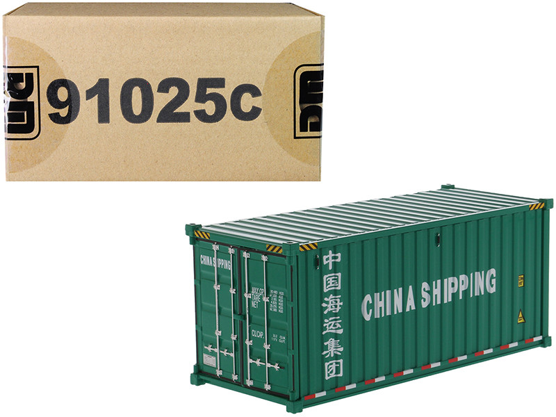 20' Dry Goods Sea Container China Shipping Green Transport Series 1/50 Model Diecast Masters 91025 C