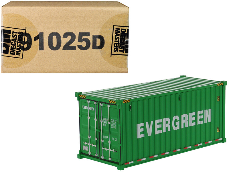 20' Dry Goods Sea Container EverGreen Green Transport Series 1/50 Model Diecast Masters 91025 D