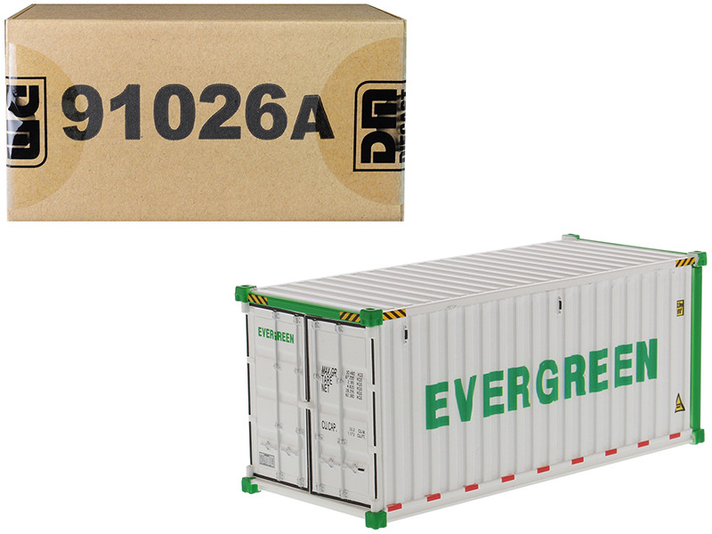 20' Refrigerated Sea Container EverGreen White Transport Series 1/50 Model Diecast Masters 91026 A