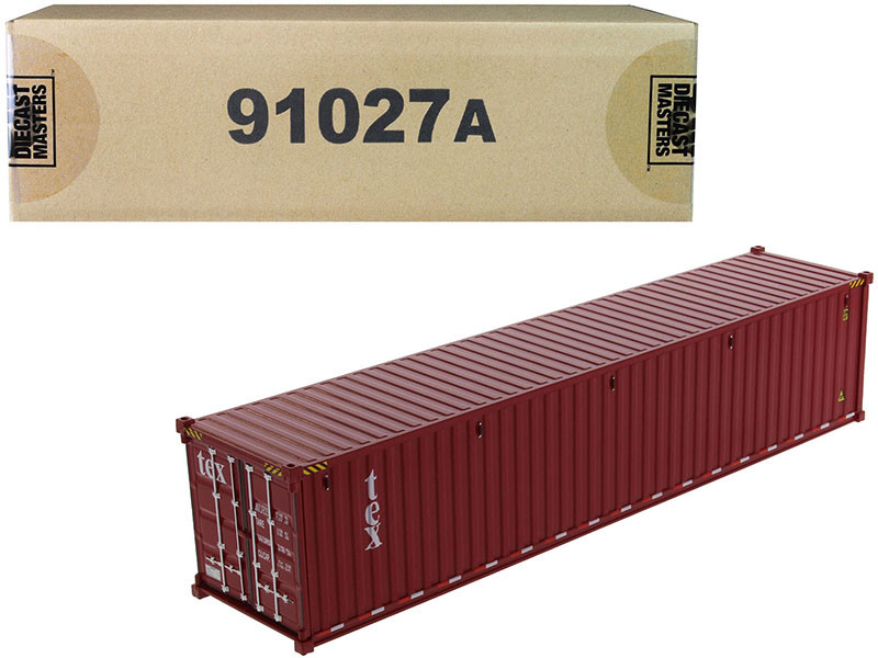 40' Dry Goods Sea Container TEX Burgundy Transport Series 1/50 Model Diecast Masters 91027 A