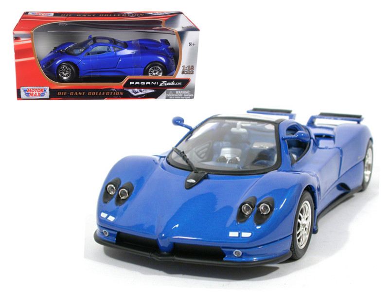 Pagani Zonda C12 Blue 1/18 Diecast Model Car Motormax 73147