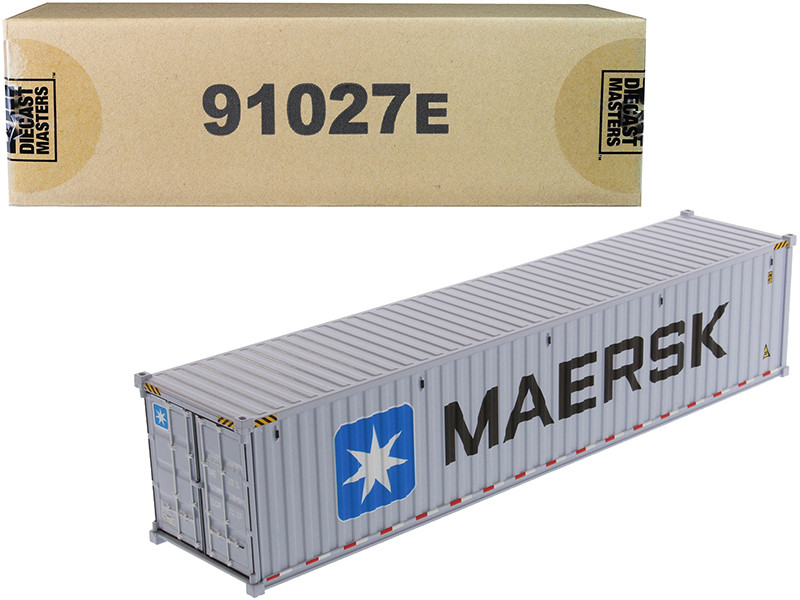 40' Dry Goods Sea Container MAERSK Gray Transport Series 1/50 Model Diecast Masters 91027 E