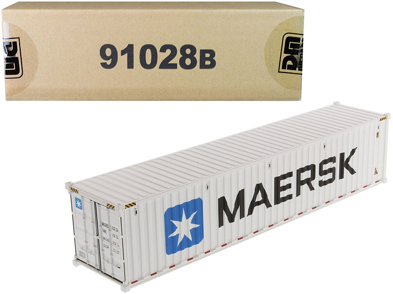 40' Refrigerated Sea Container MAERSK White Transport Series 1/50 Model Diecast Masters 91028 B