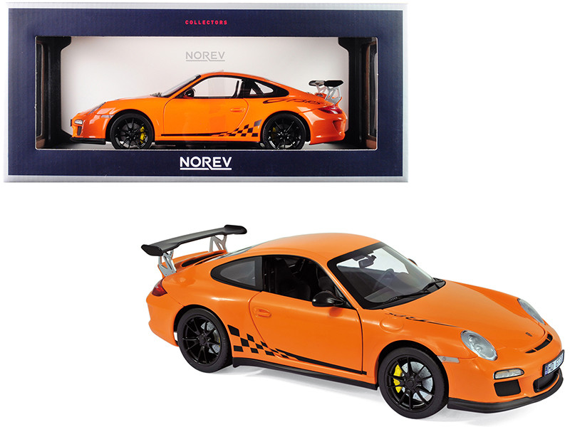2010 Porsche 911 GT3 RS Orange 1/18 Diecast Model Car Norev 187562