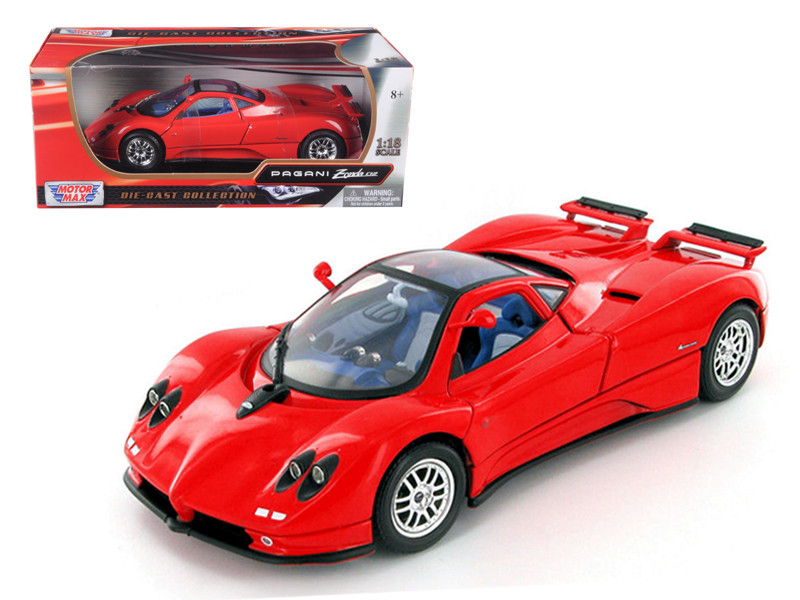 Pagani Zonda C12 Red 1/18 Diecast Model Car Motormax 73147