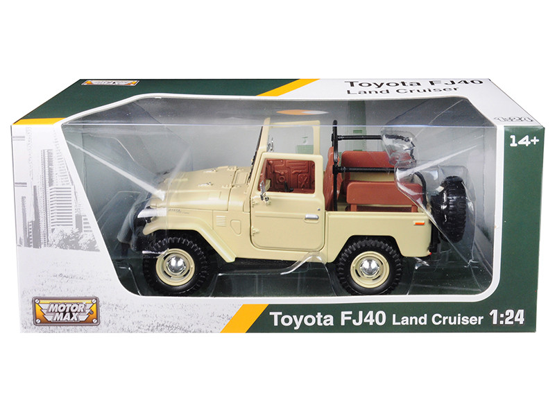 Toyota Land Cruiser FJ40 Convertible Beige 1/24 Diecast Model Car Motormax 79330