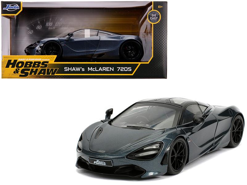 Shaw's McLaren 720S RHD Right Hand Drive Metallic Gray Fast & Furious Presents Hobbs & Shaw 2019 Movie 1/24 Diecast Model Car Jada 30754