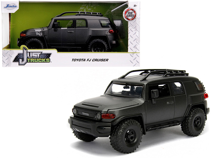 Toyota FJ Cruiser Roof Rack Charcoal Gray Metallic Just Trucks 1/24 Diecast Model Car Jada 99318