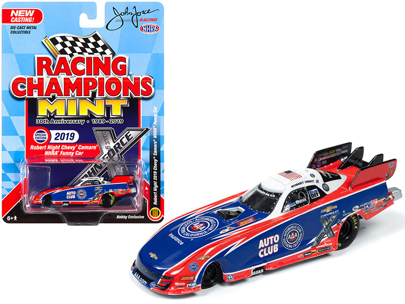 2019 Chevrolet Camaro NHRA Funny Car AAA Robert Hight John Force Racing Racing Champions 30th Anniversary 1989 2019 1/64 Diecast Model Car Racing Champions RCSP011