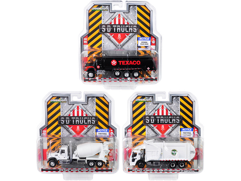 SD Trucks Series 8 3 piece Set 1/64 Diecast Models Greenlight 45080