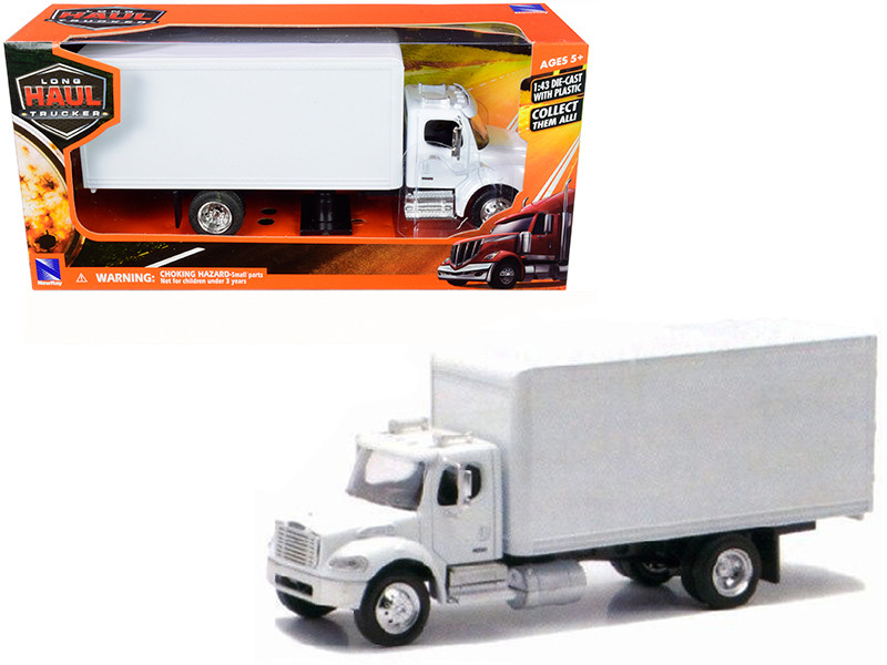Freightliner Utility M2 Box Truck White 1/43 Diecast Model New Ray 16003