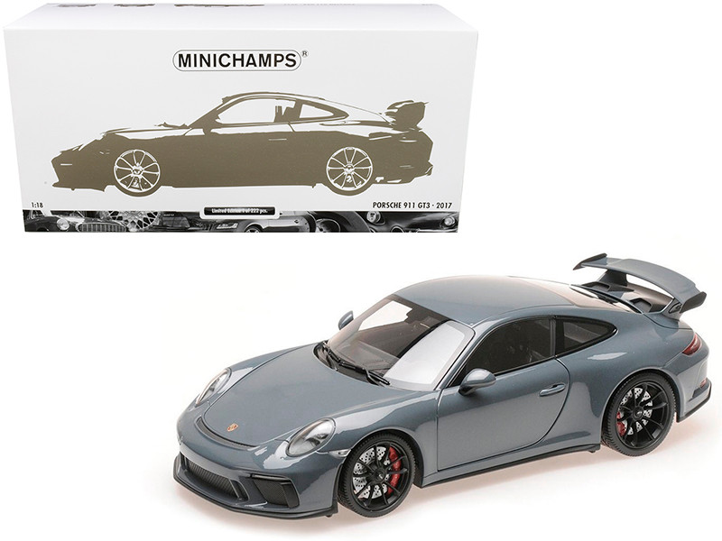 2017 Porsche 911 GT3 Graphite Blue Metallic Limited Edition 222 pieces Worldwide 1/18 Diecast Model Car Minichamps 110067033